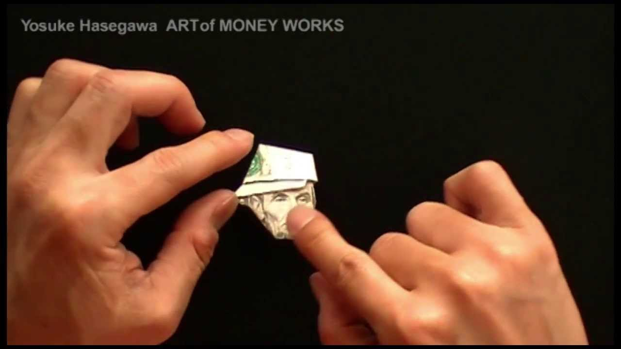 5 Dollar Bill Origami Lincoln Hat Instructions