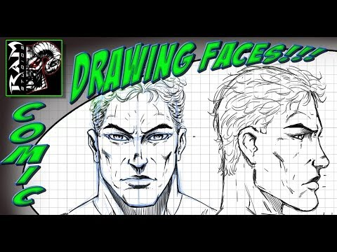 Drawing a Super Hero Face - Using a Grid - Video