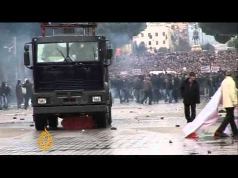 Albania protests turn violent