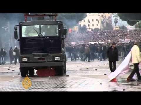 Albania protests turn violent