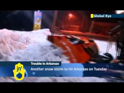 Arkansas traffic havoc caused by snow storm: US National Weather Service warns of more storms