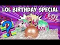 LOL Surprise Unboxing Birthday Special LOL Series 3 RARE pet Lil Kitty Queen and Series 2 Wave 2