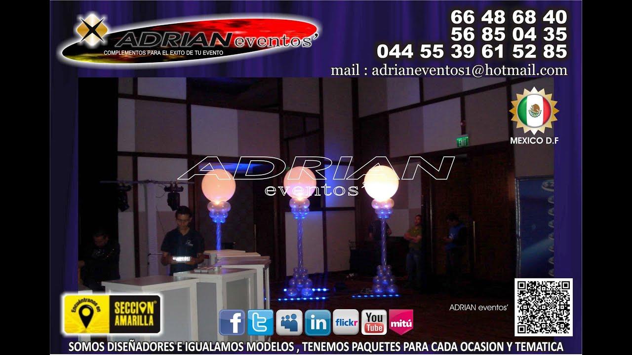 Decoracion con globos para fiestas xv a os bodas for Decoracion de globos para 15 anos