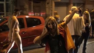 People celebrating in the streets of germany after winning fifa world