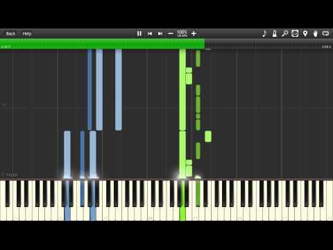Tokyo Ghoul - Unravel EP12 END SCENE Piano (Synthesia Tutorial)