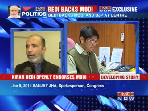 Kiran Bedi openly backs Narendra Modi