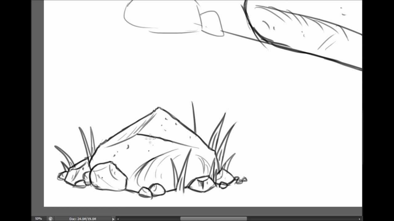 how to draw on rocks
