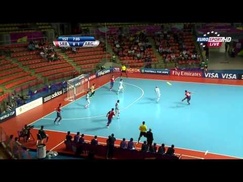 Futsal World Cup 2012   1/8 finals   Serbia vs Argentina