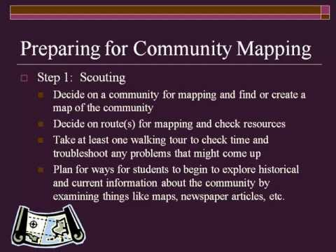 Community Mapping: A Tool for Community-Based Assessment and Skill Building