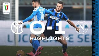 INTER 0-1 NAPOLI | COPPA ITALIA HIGHLIGHTS | The away side win the first-leg clash 😤⚫🔵?⚫