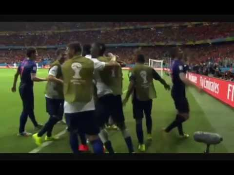 Netherlands vs Spain - Arjen Robben's Second Goal - FIFA World Cup 2014