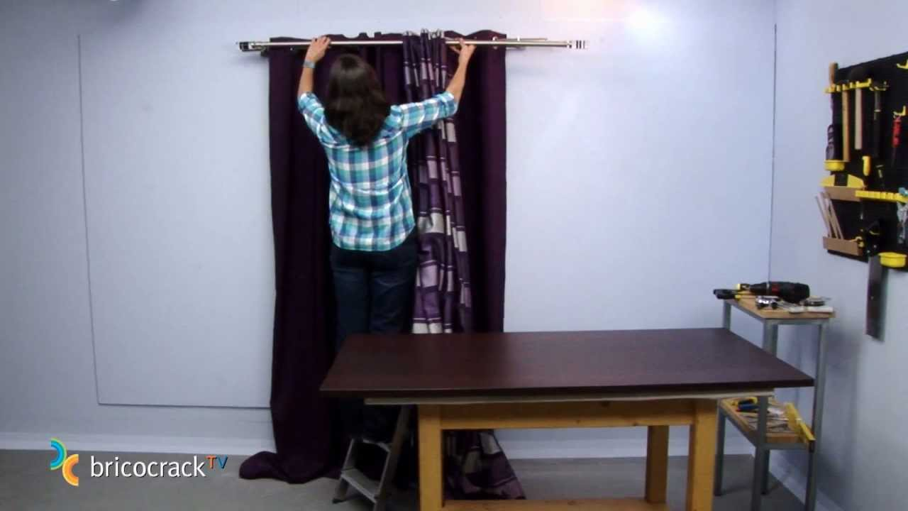 Colgar barras de cortinas bricocracktv youtube - Como colgar cortinas ...