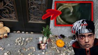 Was that Xxxtentacion's GH0ST Caught in Glass on Door?