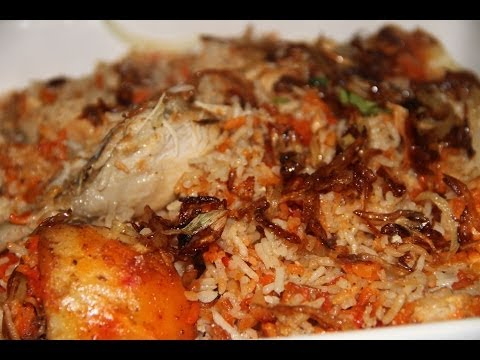 Delicious Bangladeshi Recipe: Shahi Chicken Biryani w/ English Subtitles