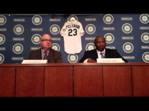 Mariners introduce Lloyd McClendon as new manager