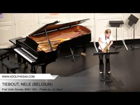 Dinant 2014 - TIEBOUT, NELE (First Violin Sonata, BWV 1001 - Presto by J.S. Bach)