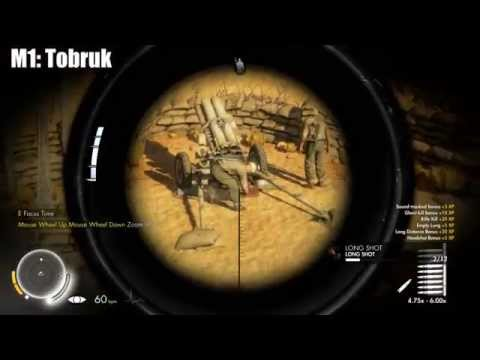Sniper Elite 3 - ALL Long Shots - A Shot in the Dark Trophy/Achievement guide