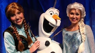 Anna, Elsa, And Olaf Frozen Meet And Greet At Walt Disney