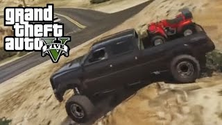 GTA 5 Hauling ATV Up Mountain In First Person! Off-Road