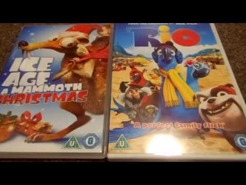 Ice Age A Mammoth Christmas And Rio (UK) DVD Unboxing
