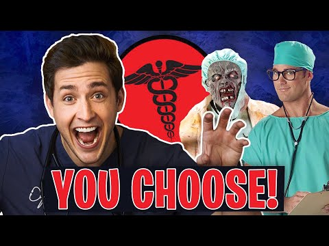 Doctor Tries on FUNNY Medical Halloween Costumes