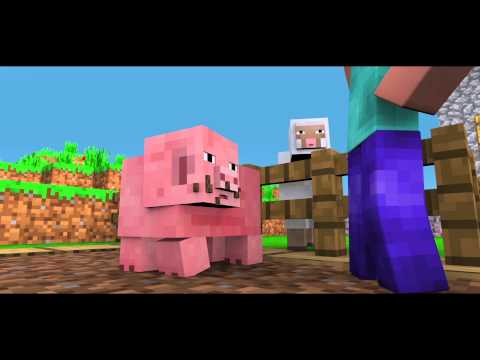 Classic Minecraft Days : Pig &amp; Sheep