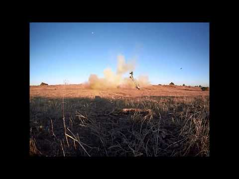 40 pounds of homemade tannerite in a Jeep Cherokee.