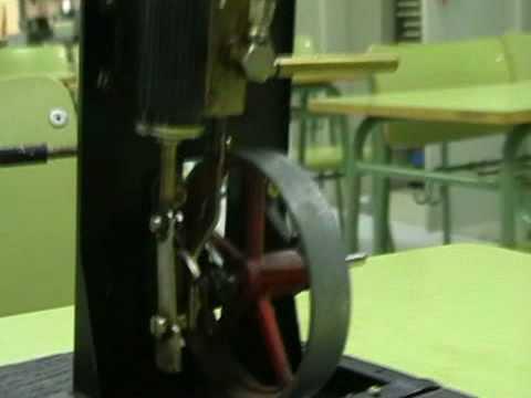 Maqueta de una máquina de vapor