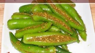 Green Chili Pickle Recipe By Manjula