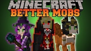 Minecraft : BETTER MOBS! (TONS OF MOBS, MERCHANTS, UNIQUE