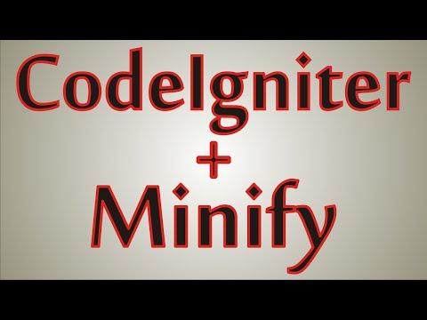 Como usar Minify com Codeigniter
