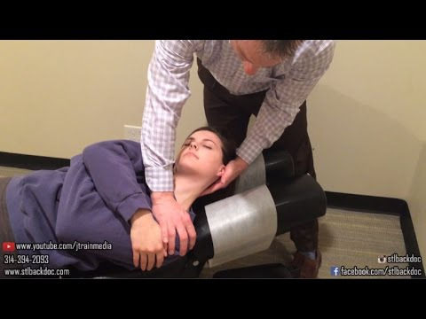 Chiropractic Adjustment on a Student with Low Back Pain