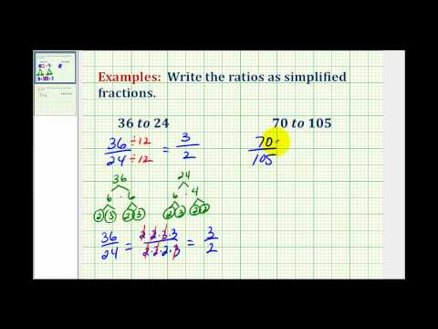 Write a Ratio as a Simple Fraction