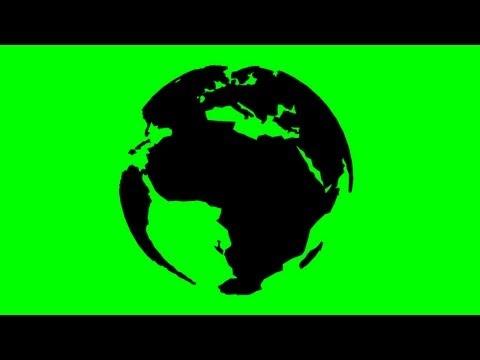 rotating 3D earth model - green screen effect
