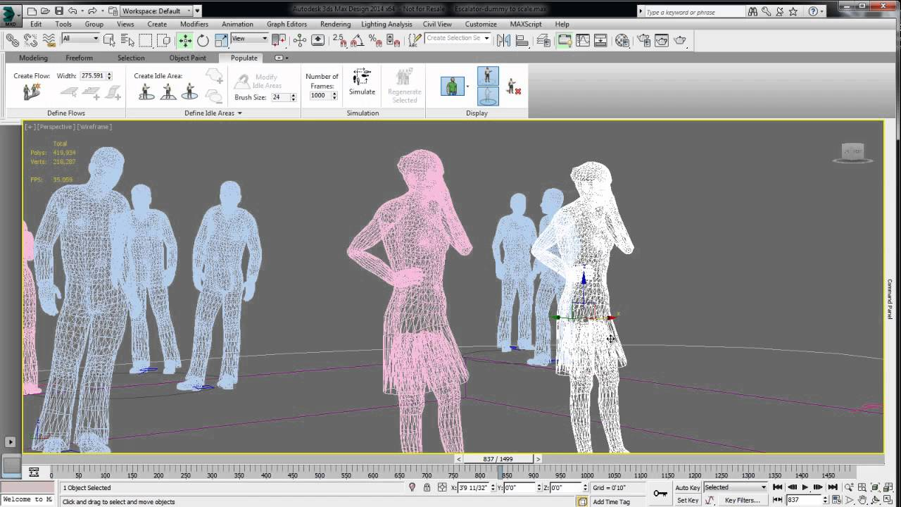 Character Design Tips And Tricks : Tips tricks autodesk ds max design populate