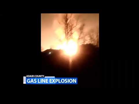 Ky. gas line blast injures 2, destroys homes