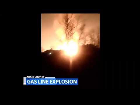 Ky. gas line blast injures 2, destroys homes