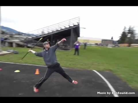 Talked into throwing the javelin at the Hood River Learn By Doing Track Clinic