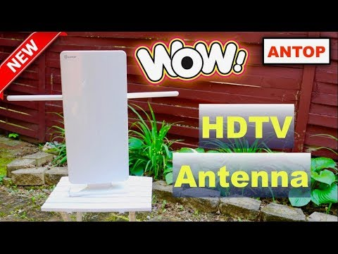 😍 ANTOP AT-400BV  Outdoor/Indoor HDTV  Antenna - Review ✅