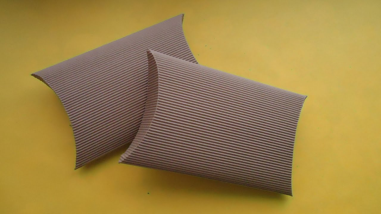 Caja ovalada de cart n corrugado youtube - Como hacer cajitas de cartulina ...