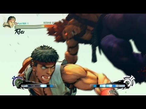 Super Street Fighter 4 AE Ver. 2012 PC Ryu Playthrough + Secret Shin Akuma Boss fight
