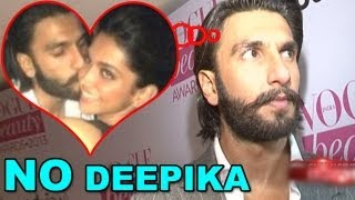 Ranveer lost his cool on Deepika's mention