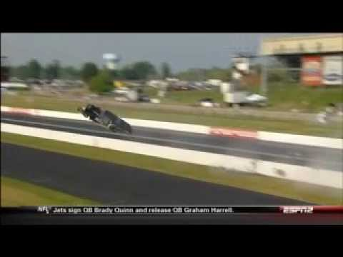 Tim Tindle Massive Crash @ 2013 NHRA U.S. Nationals