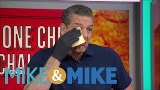 Mike & Mike crew does the 'One Chip Challenge' | Mike & Mike | ESPN