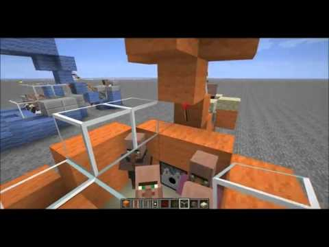 Minecraft 1.7.4: Infinite Villager Breeding Machine Tutorial