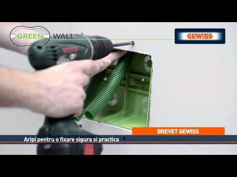 GEWISS Gama GREEN WALL - Solutii pentru pereti din gips carton