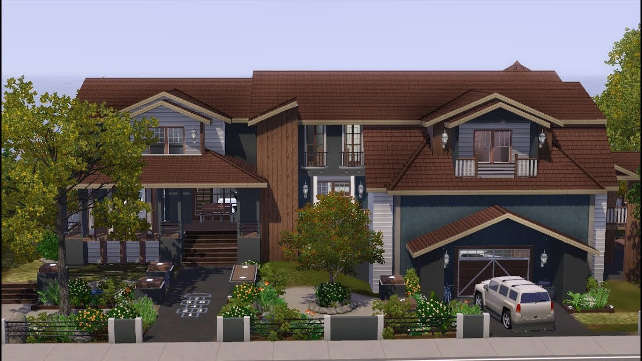 15 photos and inspiration sims 3 large family house home for Classic house sims 3