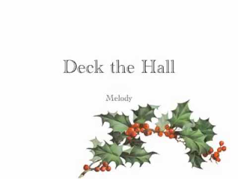 Deck the Hall melody