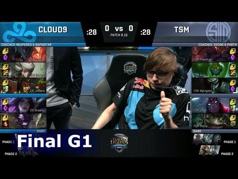 Cloud 9 vs TSM - Game 1   Final of S8 NA Regional Qualifier for S8 Worlds 2018   TSM vs C9 G1