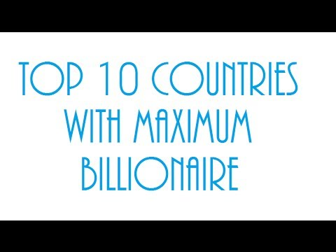 Top 10 countries with most billionaire